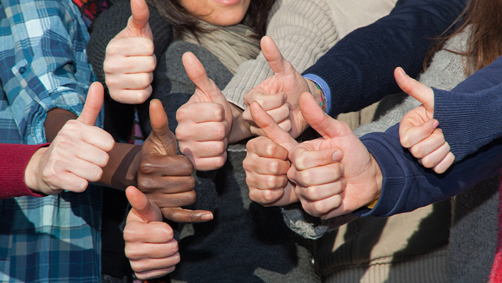 people thumbs up
